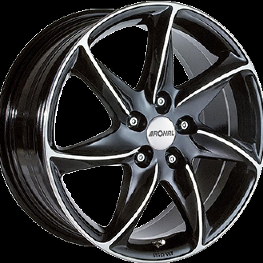 R51 Gloss Black / Polished 8.0x18